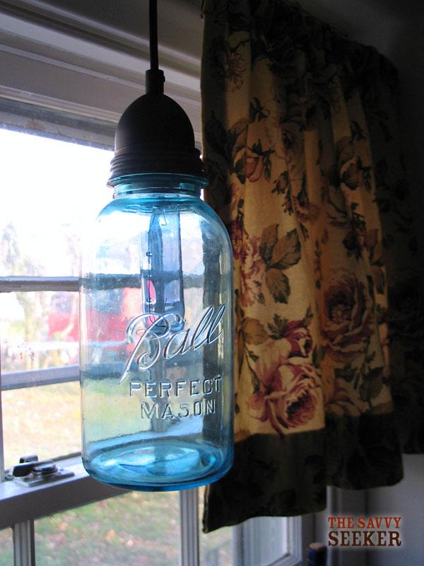 Mason Jar Light Pendant