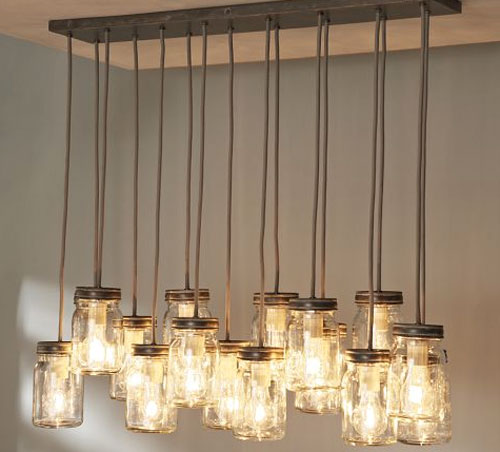 mason jar light pendant thesavvyseeker. Black Bedroom Furniture Sets. Home Design Ideas