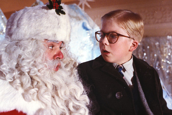 """You'll shoot your eye out, kid..."" Ah, Santa...the gift giver or dream crusher?"