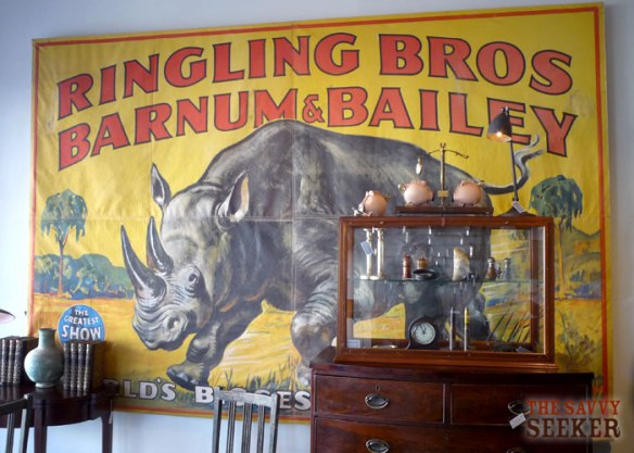 Where can I hang this in my house?! An amazing Ringling Brothers Circus banner, found in upstate New York.