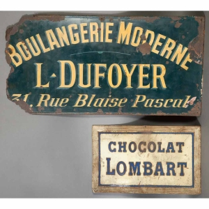 French Enameled Tin Advertising Signs