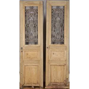 Pair of 19th Century french oak doors