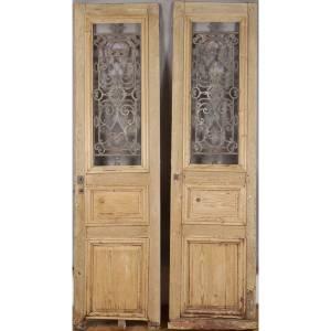 Pair of 19th Century french oak doors
