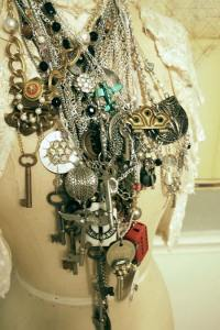 Just some of Margo's funky junky jewelry!