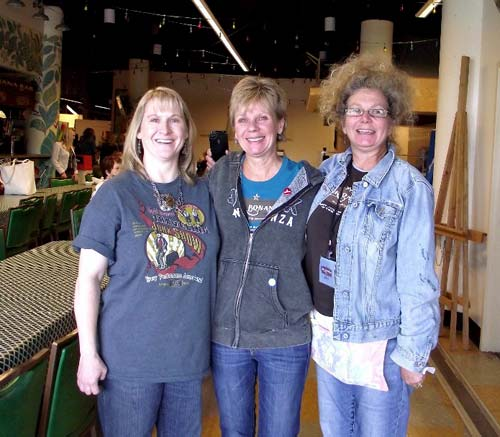 The Flea Market Style team at Junk Bonanza - Margo, Ki Nassauer and Kim Yeager.