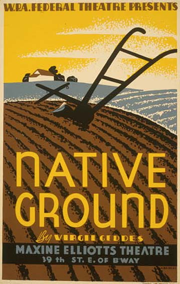 native_ground_vintage_poster