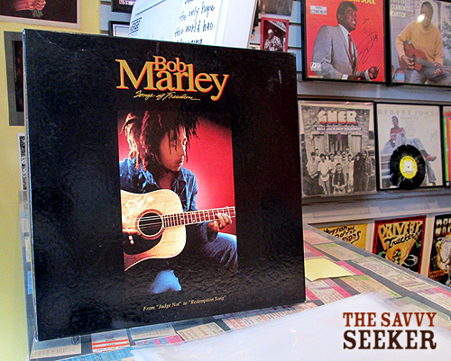 We be jammin'...in the store that is! Listening to the sweet sounds of Marley in the shop...