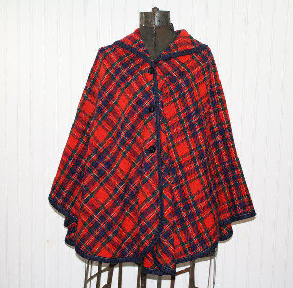 Maybe this vintage Pendleton woolen cape is more your style. Love the color!