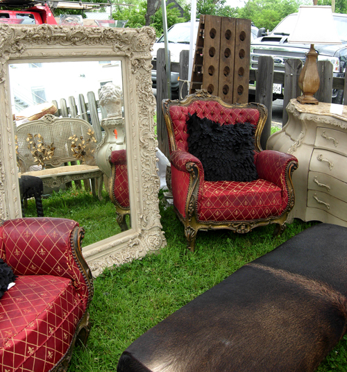 Need a break from shopping? Rest a while in one of these funky vintage chairs.