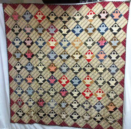 "Dolly Parton could have sang a song about a ""quilt of many colors""...beautiful hand made antique quilt to curl up with!"