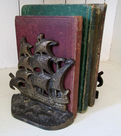 How about a pair of heavy bronze bookends from 1928?