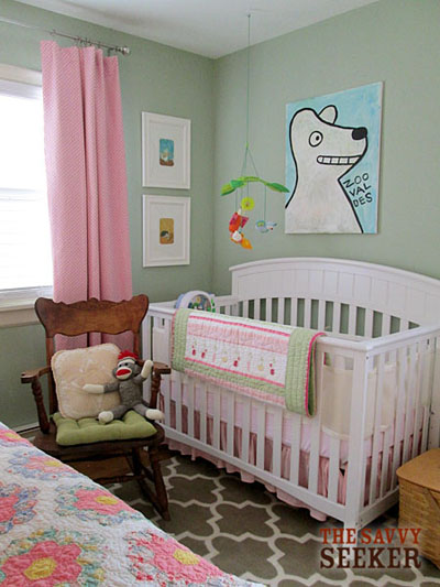 A sweet cottage style nursery...with soft colors and vintage touches!