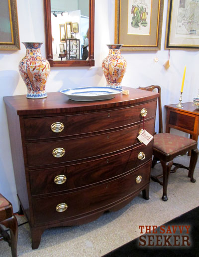 Mahogany chest with original drawer pulls.