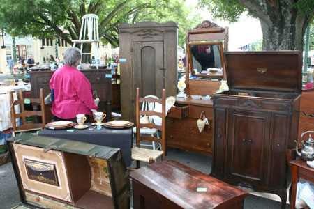 Enjoy antiques indoors and outdoors at the NC State Fairgrounds!