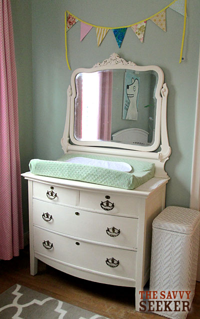 Remember this old dresser? Looks a lot better after a fresh coat of Chalk Paint!