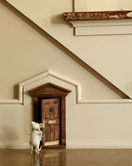 Every quirky home needs to have a door for a mouse!