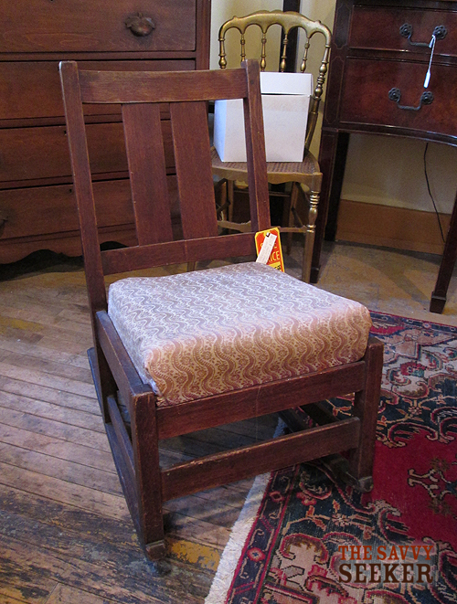 I love the petite size of this Stickley rocking chair.