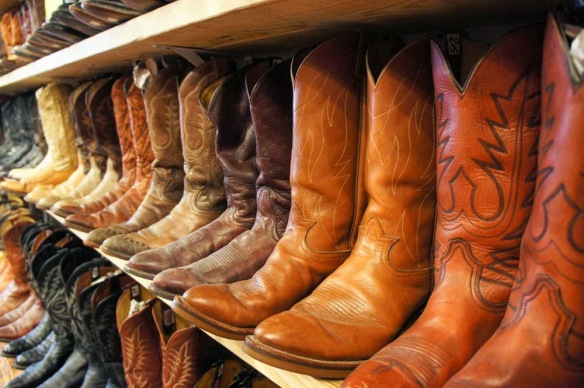 A cowgirl's paradise!!!! Look at all of these boots!!!